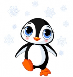 cute winter penguin vector image