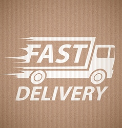 Delivery of cargo vector image vector image