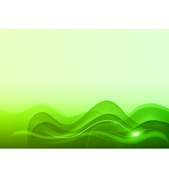wave neon light white green vector image vector image