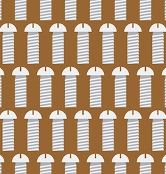 Bolts seamless pattern Iron Fasteners background vector image