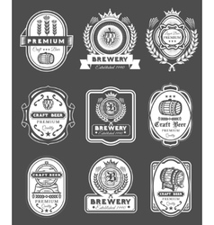 Collection retro beer emblems badges stickers vector image vector image