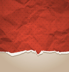 Crumpled torn paper vector image vector image