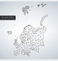 geometric europe continent light version clean vector image