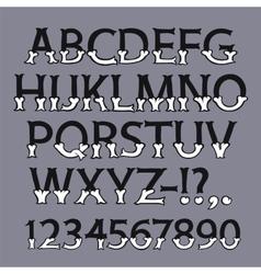 Halloween Bone Font vector image vector image