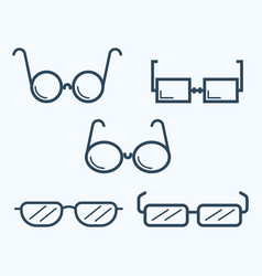 sunglasses icon set symbol vector image