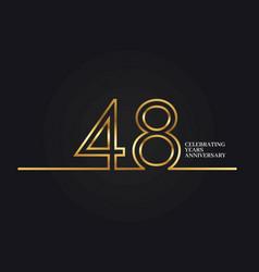 48 years anniversary vector image