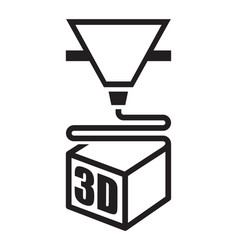 a black 3d printer icon vector image