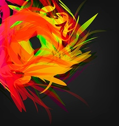 Abstract Colored Feathers vector