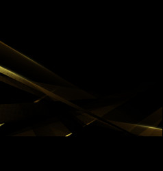 abstract gold geometric with futuristic background vector image