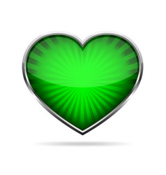 abstract heart button vector image