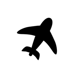Airplane travel symbol vector