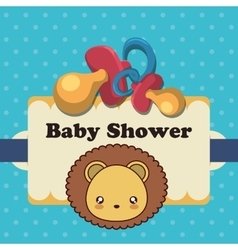 Baby shower invitation card design vector