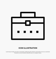 Bag worker bag user interface line icon vector