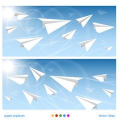 Banner flights vector