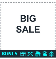 Big Sale offer text icon flat vector