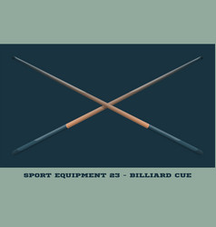billiard cue icon game equipment professional vector image