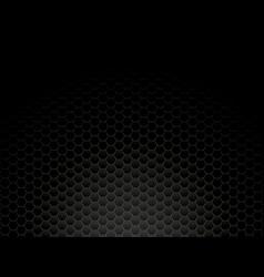 Black metal hexagon background vector