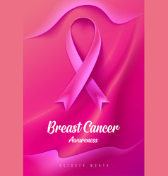 Breast cancer awareness campaign card vector