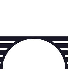 bridge structure - architecture city vector image