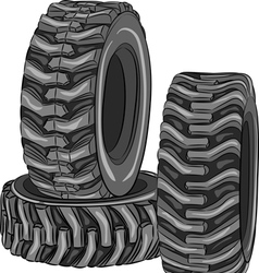 car tires vector image