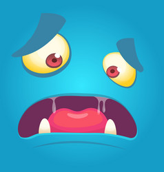 Cartoon monster face mask vector