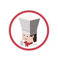 Chef isometric avatar vector