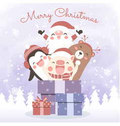 christmas for greeting card vector image