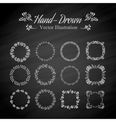 Circle floral borders vector image