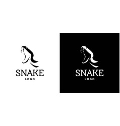 Cool and attractive snake logo design 1 vector