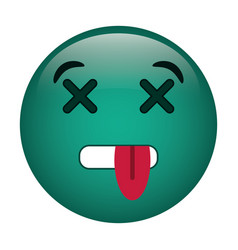 dead emoticon funny icon vector image