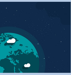 Earth planet from outer space banner for copy vector