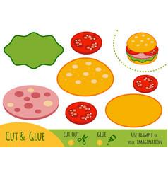 education paper game for children burger vector image