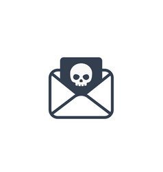Email with virus phishing icon vector
