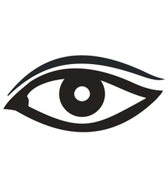 Eye Icon black vector image