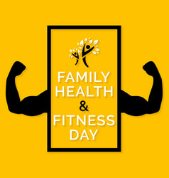 Family health and fitness day vector