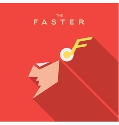 Faster hero superhero mask flat style icon vector