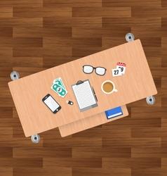Flat Desk design vector image