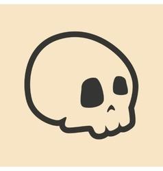 Flat in black and white mobile application skull vector