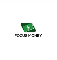 focus money logo vector image