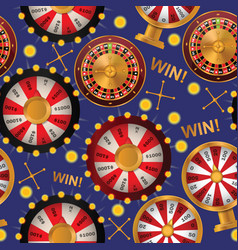 Fortune wheel seamless pattern spin game vector