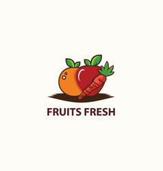 fruit fresh logo design template vector image