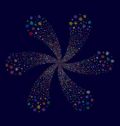 Galaxy rotation stream vector