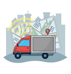 gps vehicle tracking vector image
