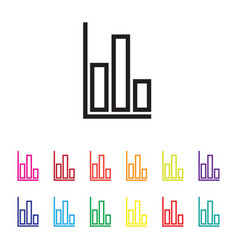 graph chart colourful set vector image