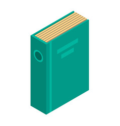 green office folder icon isometric style vector image