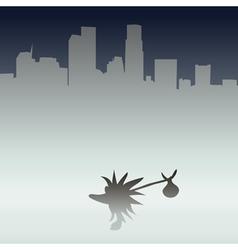 Hedgehog in the metropolis vector image
