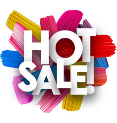 hot sale poster with brush strokes vector image