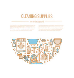 Household cleaning supplies vector