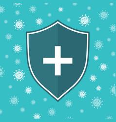Icon shield anti virus system shield immune vector