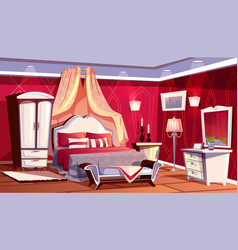 interior of rich bedroom luxurious room vector image